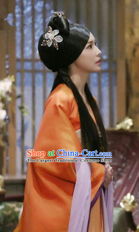 Drama Colourful Bone Chinese Ancient Imperial Concubine Costume and Headpiece for Women
