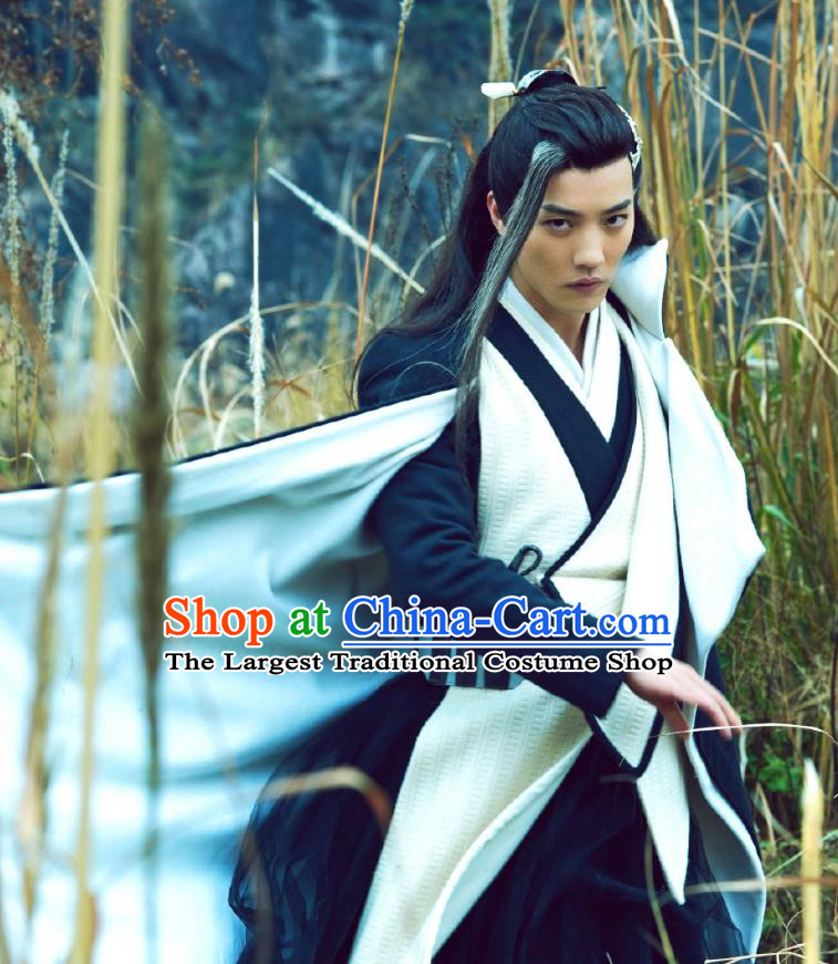 Chinese Ancient Healer Swordsman Ye Xiaoxiao Clothing Historical Drama Xia Tan Jian Bu Zhi Costume for Men