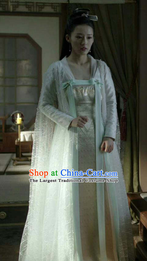 Chinese Ancient Royal Infanta Lin Wan Er Historical Drama Qing Yu Nian Joy of Life Costume and Headpiece Complete Set