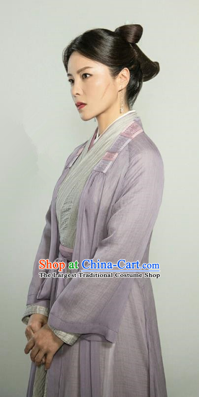 Chinese Ancient Court Maid Zhi Xia Hanfu Dress Drama The Love Lasts Two Minds Costume and Headpiece for Women