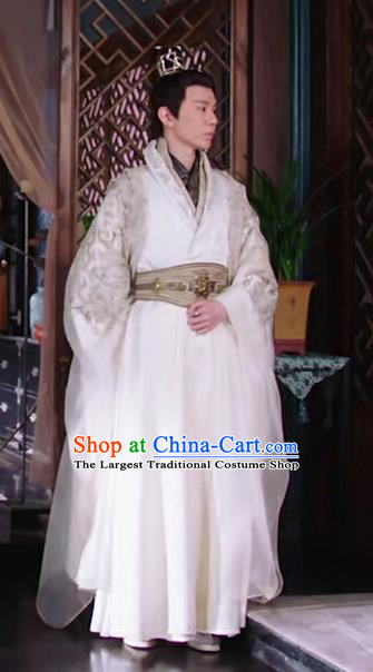 Chinese Ancient Noble Childe Clothing Historical Drama The Love Lasts Two Minds Costume and Headpiece for Men