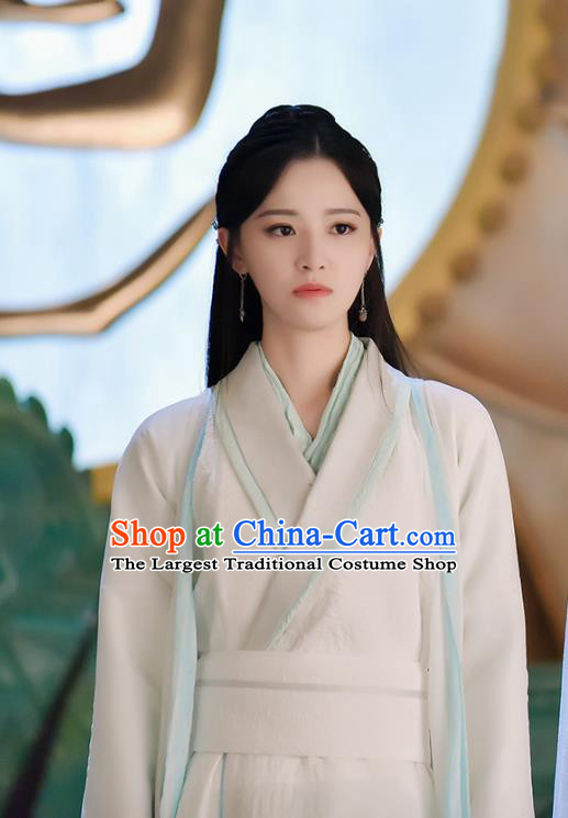 Chinese Ancient Female Swordsman Tie Xinlan Hanfu Dress Drama Handsome Siblings Costume and Headpiece for Women