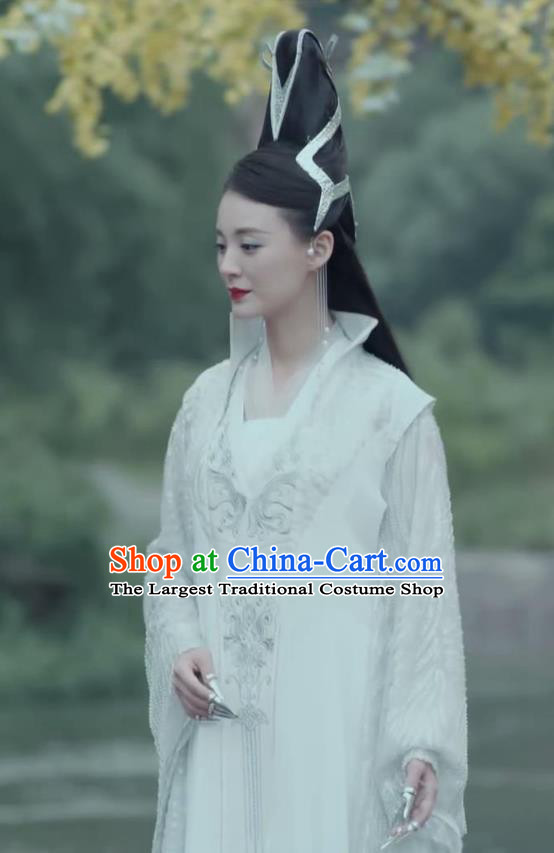 Chinese Ancient Yi Hua Palace Mistress Yao Yue Hanfu Dress Drama Handsome Siblings Costume and Headpiece for Women