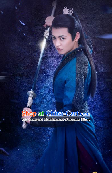 Chinese Ancient Swordsman Jiang Yulang Clothing Historical Drama Handsome Siblings Costume and Headpiece for Men