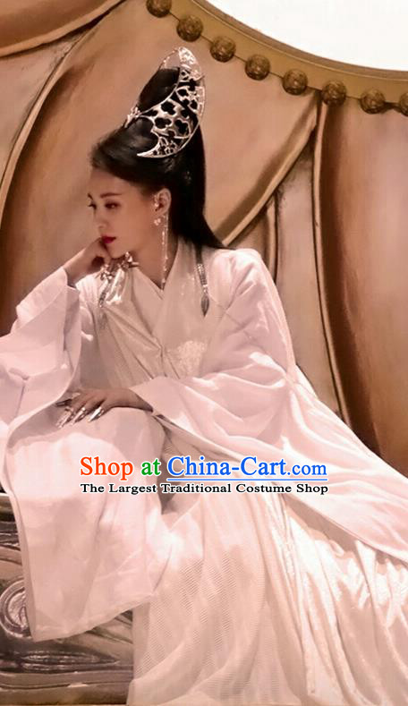 Chinese Drama Handsome Siblings Ancient Swordsman Mistress Yao Yue Hanfu Dress Costume and Headpiece for Women