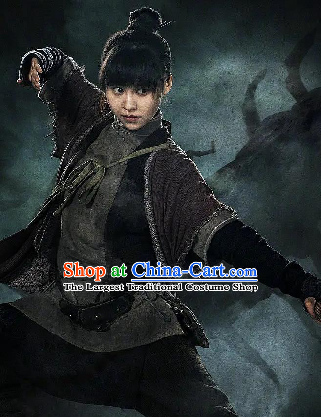 Chinese Drama Candle in The Tomb The Wrath of Time Grave Robber Hua Ling Costume and Headpiece for Women