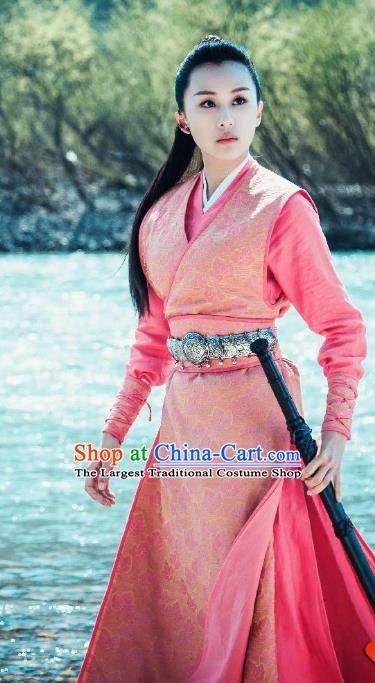 Chinese Historical Drama A Step Into The Past Ancient Qin Dynasty Wujia Castle Rich Lady Wu Tingfang Costume and Headpiece for Women