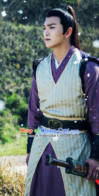 Chinese Ancient Qin Dynasty Swordsman Lian Jin Historical Drama A Step Into The Past Costume for Men