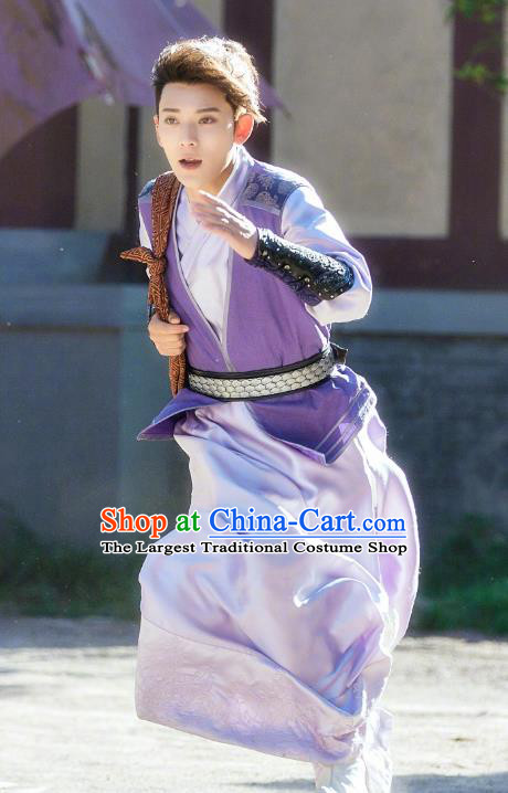 Chinese Ancient Qin Dynasty Swordsman Xiang Shaolong Historical Drama A Step Into The Past Costume for Men