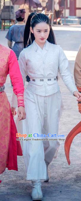 Chinese Historical Drama A Step Into The Past Ancient Qin Dynasty Swordsman Xing Yun Costume and Headpiece for Women
