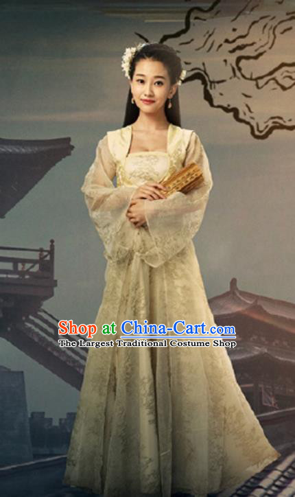 Chinese Historical Drama A Step Into The Past Ancient State of Zhao Princess Costume and Headpiece for Women