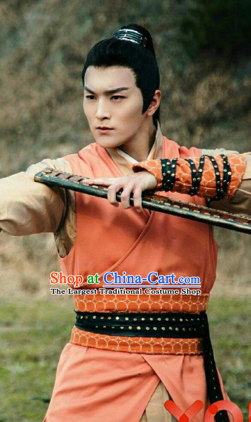 Chinese Ancient State of Qin Swordsman Lian Jin Historical Drama A Step Into The Past Costume for Men