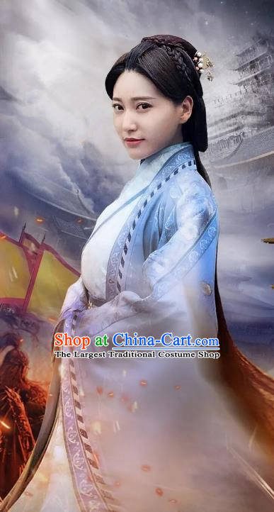 Chinese Historical Drama A Step Into The Past Ancient State of Zhao Princess Zhao Qian Costume and Headpiece for Women