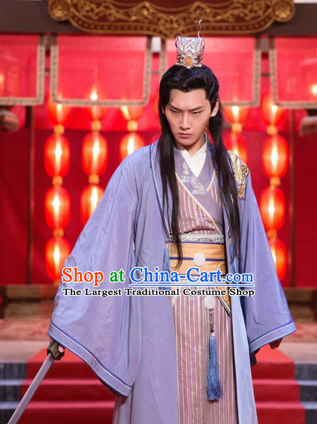 Chinese Ancient Prince Clothing Historical Drama The Eternal Love Mo Liancheng Costume for Men