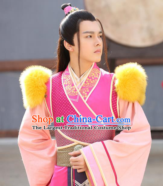 Chinese Ancient Royal Prince Mo Jingxuan Clothing Historical Drama The Eternal Love Costume and Headwear for Men