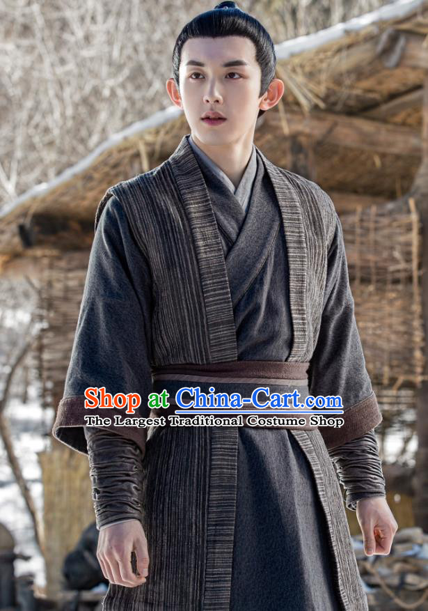 Chinese Ancient Swordsman Hou Zhengze Clothing Historical Drama Guardians of The Ancient Oath Costume for Men