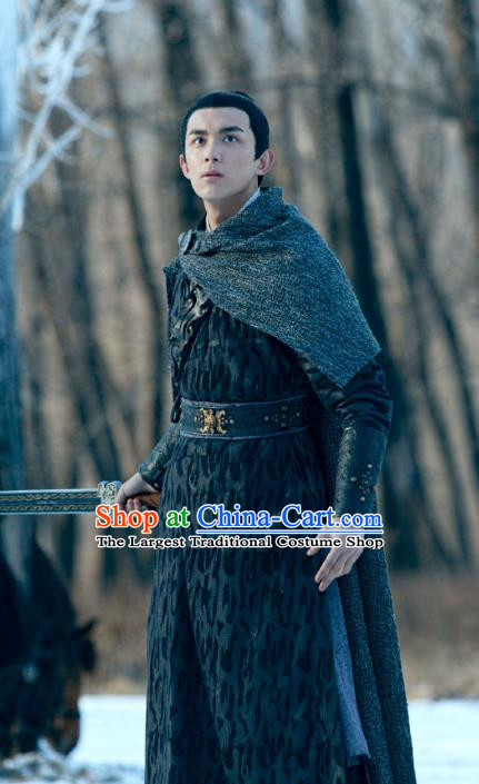 Chinese Ancient Swordsman Baili Hongshuo Clothing Historical Drama Guardians of The Ancient Oath Costume for Men