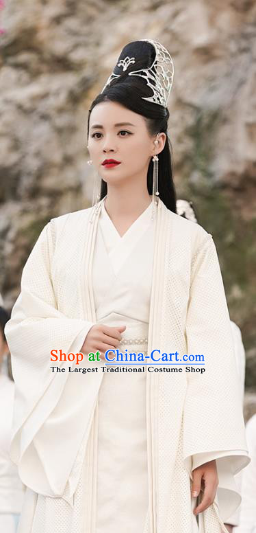 Chinese Ancient Yao Yue Palace Castellan Hanfu Dress Drama Handsome Siblings Costume and Headpiece for Women