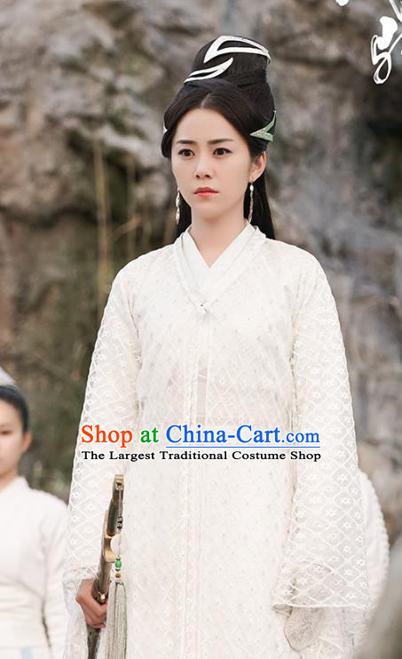 Chinese Ancient Palace Castellan Lian Xing Hanfu Dress Drama Handsome Siblings Costume and Headpiece for Women