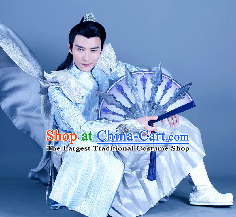 Chinese Ancient Swordsman King Clothing Historical Drama The Legend of Zu Costume for Men