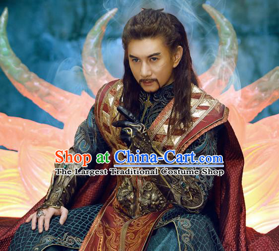 Chinese Ancient Suzerain King Clothing Historical Drama The Legend of Zu Costume for Men
