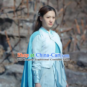 Chinese Historical Drama The Legend of Zu Ancient Swordsman Tu Meng Costume and Headpiece for Women