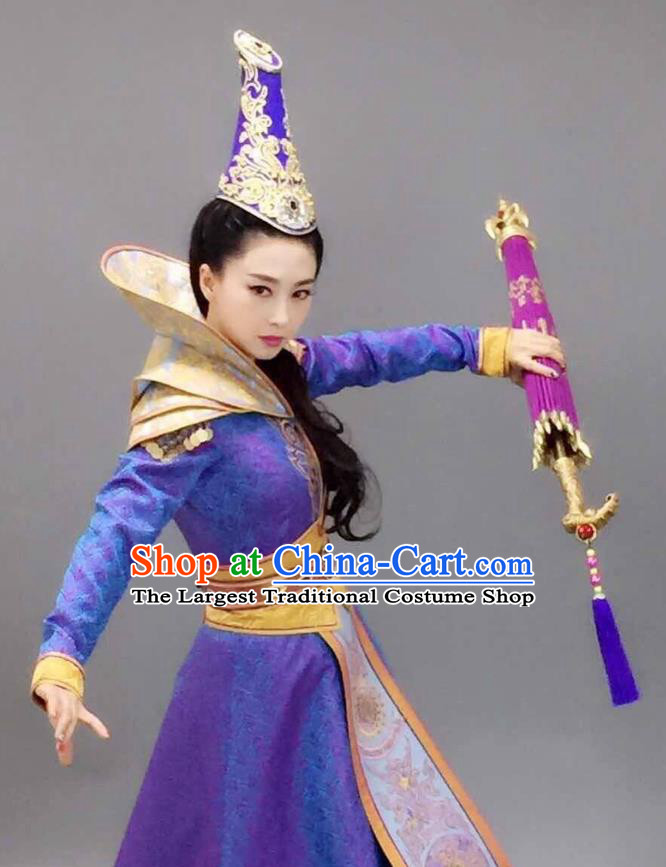 Chinese Historical Drama The Legend of Zu Ancient Magic Swordsman Tu Mei Costume and Headpiece for Women