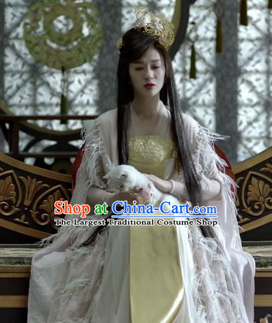Chinese Ancient Elder Princess of Qing Historical Drama Qing Yu Nian Joy of Life Costume and Headpiece Complete Set