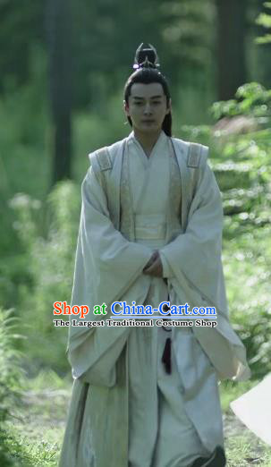 Chinese Historical Drama Ancient Crown Prince Qing Yu Nian Joy of Life Costume and Headpiece Complete Set