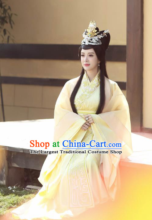 Chinese Historical Drama Swords of Legends Ancient Imperial Concubine Shu Costume and Headpiece for Women