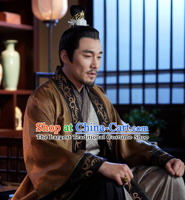 Swords of Legends Chinese Ancient Royal Duke Yue Shaocheng Clothing Historical Drama Costume and Headwear for Men