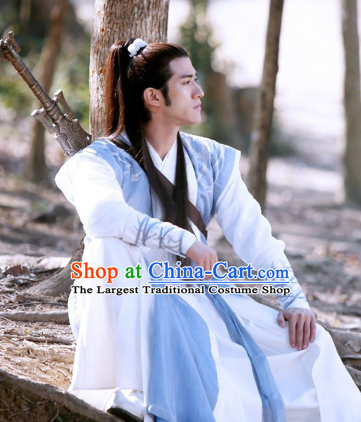 Swords of Legends Chinese Ancient Royal Prince Xia Yize Clothing Historical Drama Costume and Headwear for Men