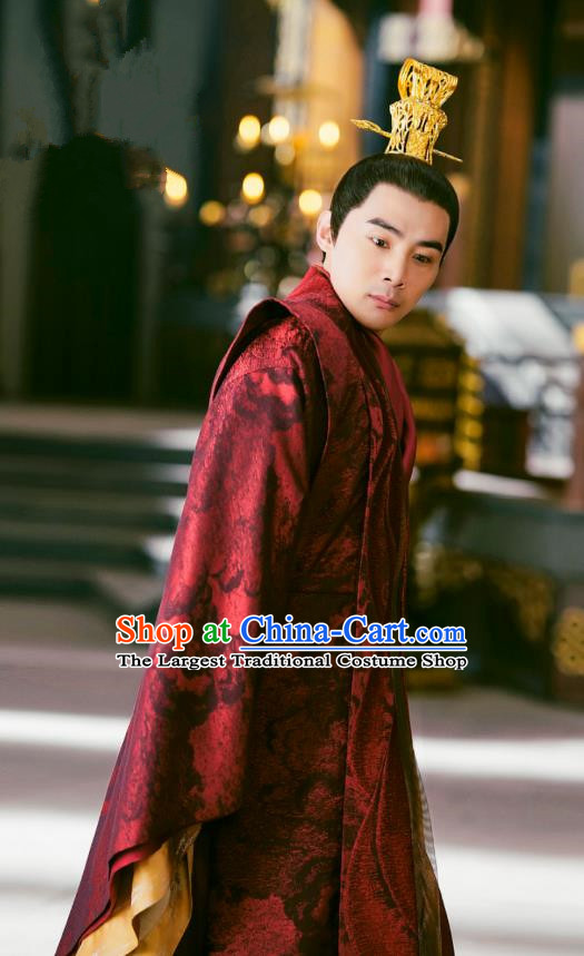 Chinese Drama Princess Silver Ancient Crown Prince Historical Costume and Headwear for Men