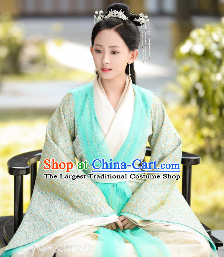 Chinese Ancient Noble Lady Sun Yali Historical Drama Princess Silver Costume and Headpiece for Women