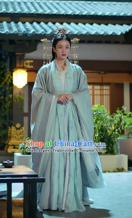 Chinese Ancient Princess Consort Rong Le Hanfu Dress Historical Drama Princess Silver Pink Costume and Headpiece for Women
