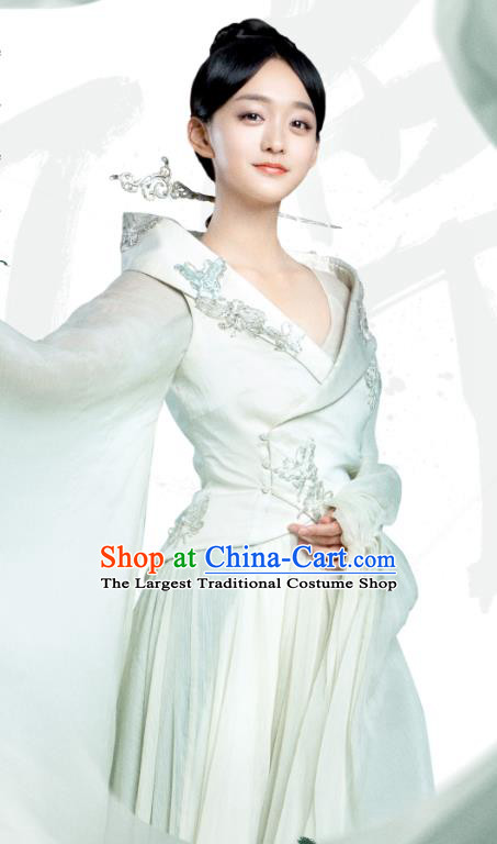 Chinese Ancient Court Concubine Ye Ningzhi Hanfu Dress Historical Drama Legend of the Phoenix Costume and Headpiece for Women
