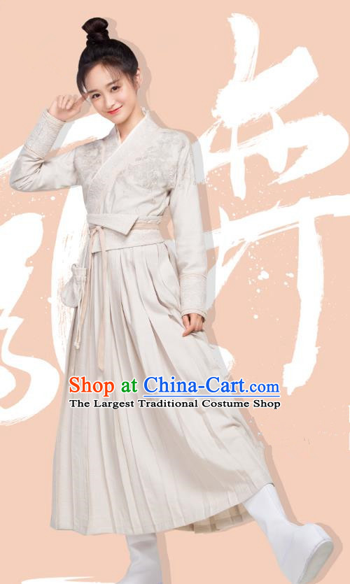 Chinese Ancient Civilian Lady Ye Ningzhi Hanfu Dress Historical Drama Legend of the Phoenix Costume and Headpiece for Women