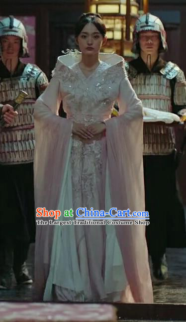 Chinese Ancient Court Consort Ye Ningzhi Hanfu Dress Historical Drama Legend of the Phoenix Costume and Headpiece for Women