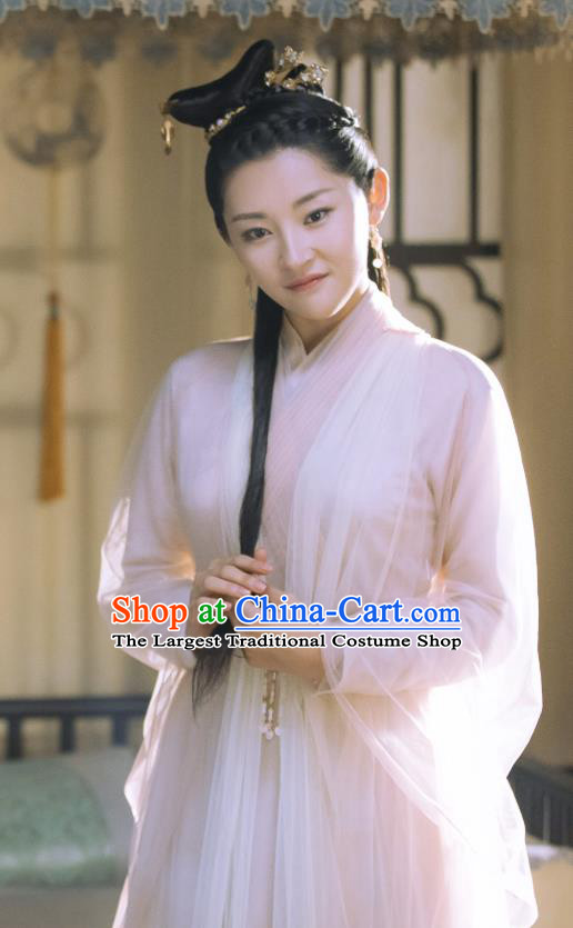 Chinese Historical Drama Love Better Than Immortality Ancient Female Swordsman Feng Caicai Costume and Headpiece for Women