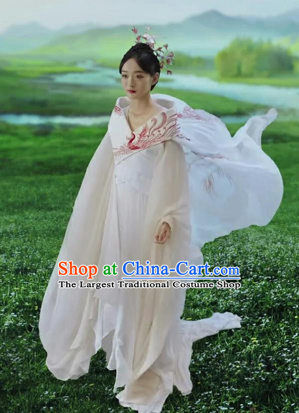 Chinese Ancient Imperial Consort Ye Ningzhi Hanfu Dress Historical Drama Legend of the Phoenix Costume and Headpiece for Women