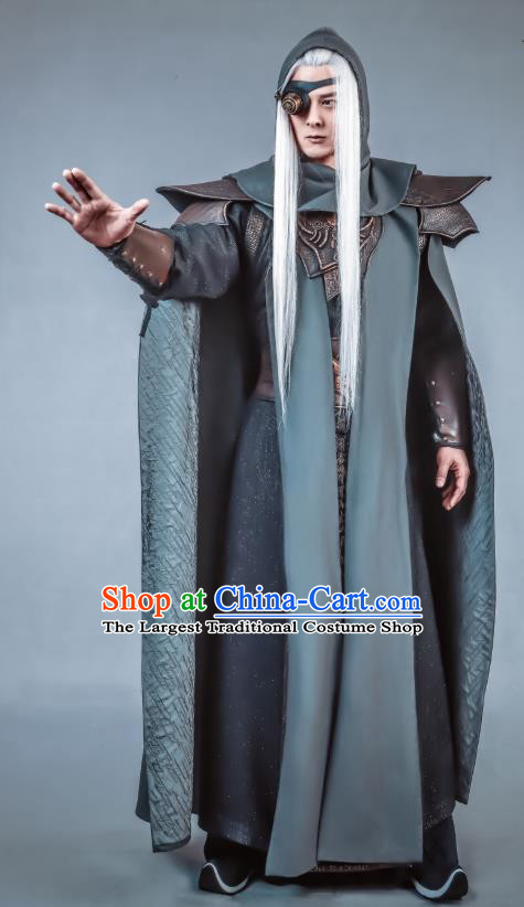 Swords of Legends Chinese Ancient Flamen Tong Clothing Historical Drama Costume and Headwear for Men