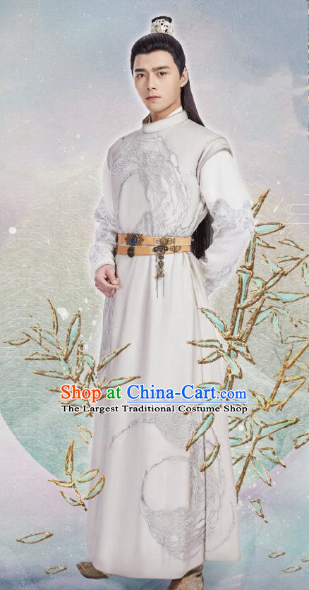 Chinese Drama The Love By Hypnotic Ancient Tang Dynasty Prince Li Qian Historical Costume and Headwear for Men