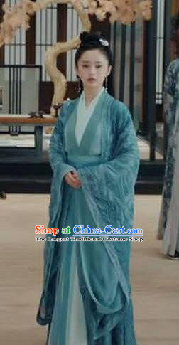 Chinese Ancient Female Swordsman Hong Xie Hanfu Dress Historical Drama Listening Snow Tower Costume and Headpiece for Women