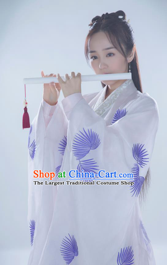 Chinese Historical Drama Ancient Female Physician Lin Ling Hanfu Dress Under the Power Costume and Headpiece for Women