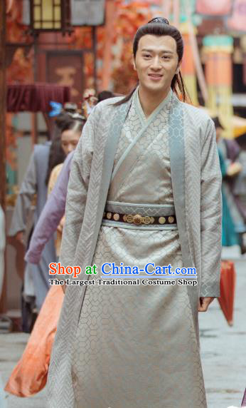 Under the Power Chinese Historical Drama Ancient Swordsman Leader Xie Xiao Costume and Headwear for Men