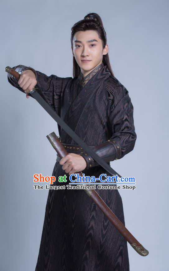 Drama Under the Power Chinese Ancient Ming Dynasty Constable Yang Yue Costume and Headpiece Complete Set