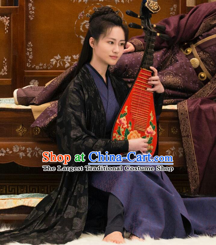 Chinese Ancient Ming Dynasty Courtesan Zhai Lanye Dress Drama Under the Power Yuan Jinxia Costume and Headpiece for Women