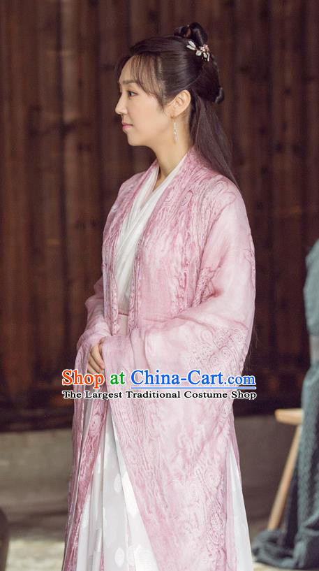 Chinese Ancient Ming Dynasty Female Physician Dress Drama Under the Power Ling Ling Costume and Headpiece for Women