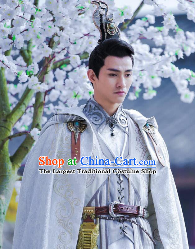 Drama Demon Catcher Zhong Kui Chinese Ancient Swordsman Yang Renzhi Costume and Headpiece Complete Set