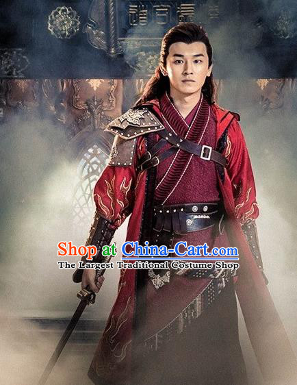 Drama Demon Catcher Zhong Kui Chinese Ancient Master Mu Tianran Costume and Headpiece Complete Set